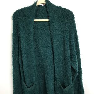 FREE PEOPLE Once In A Lifetime Long Cardigan Fuzzy